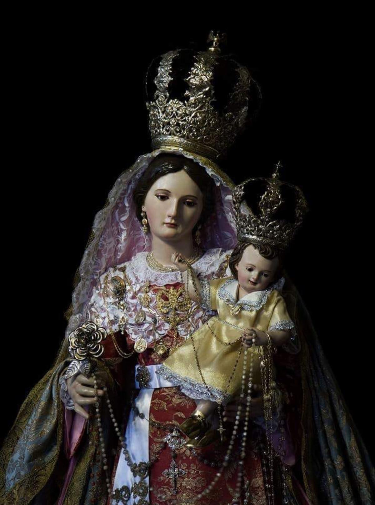 Nuestra señora la Virgen del Rosario Parroquia de La Concepción Realejo Bajo (Tenerife )