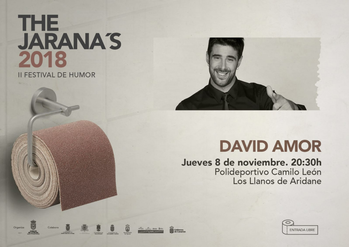 Cartel David Amor en Los Llanos de Aridane The Jarana's[21183]
