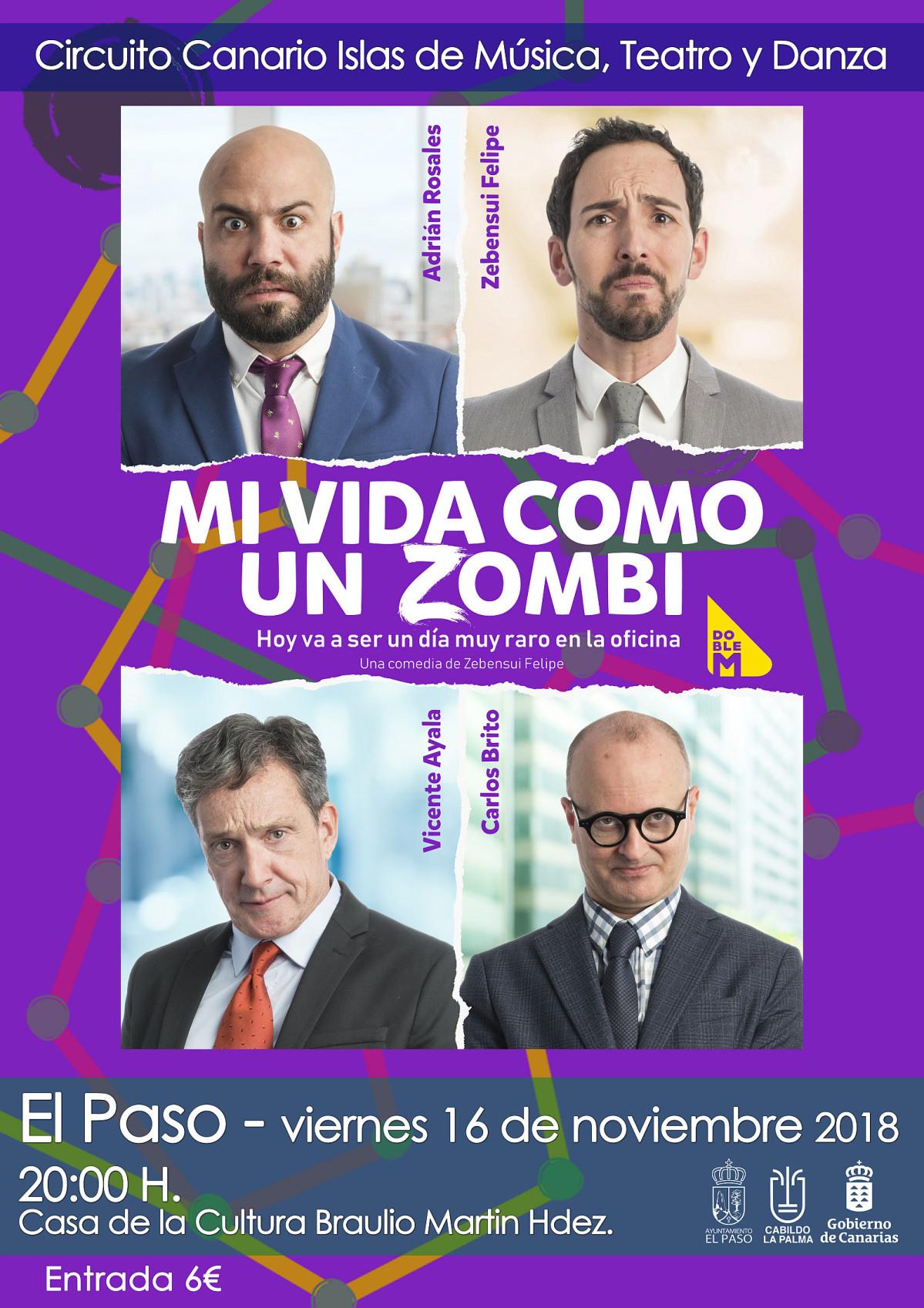 Cartel Mi vida como un zombi