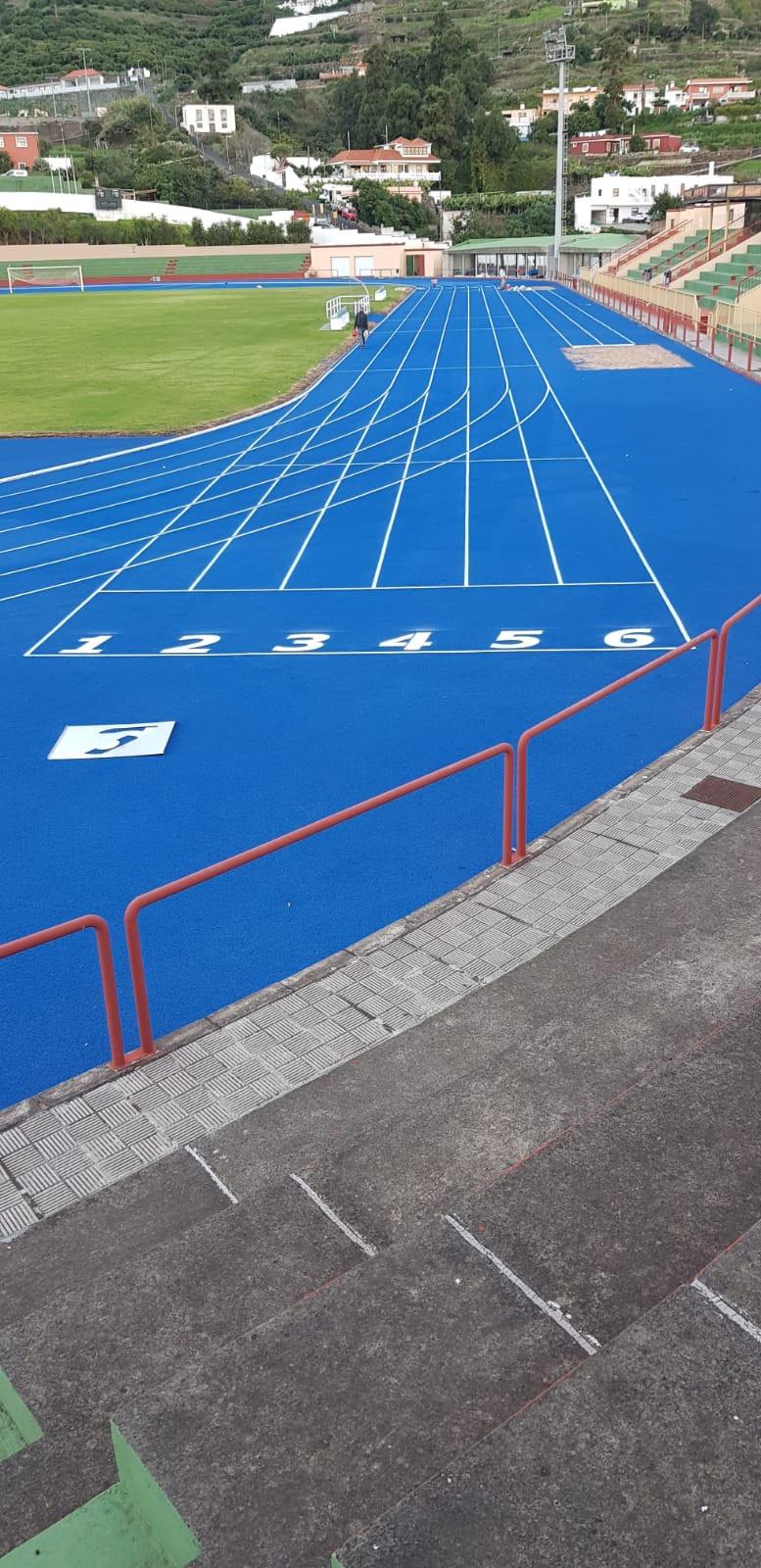 Pista de Atletismo de la Ciudad Deportiva de Miraflores Retopping Azul 1