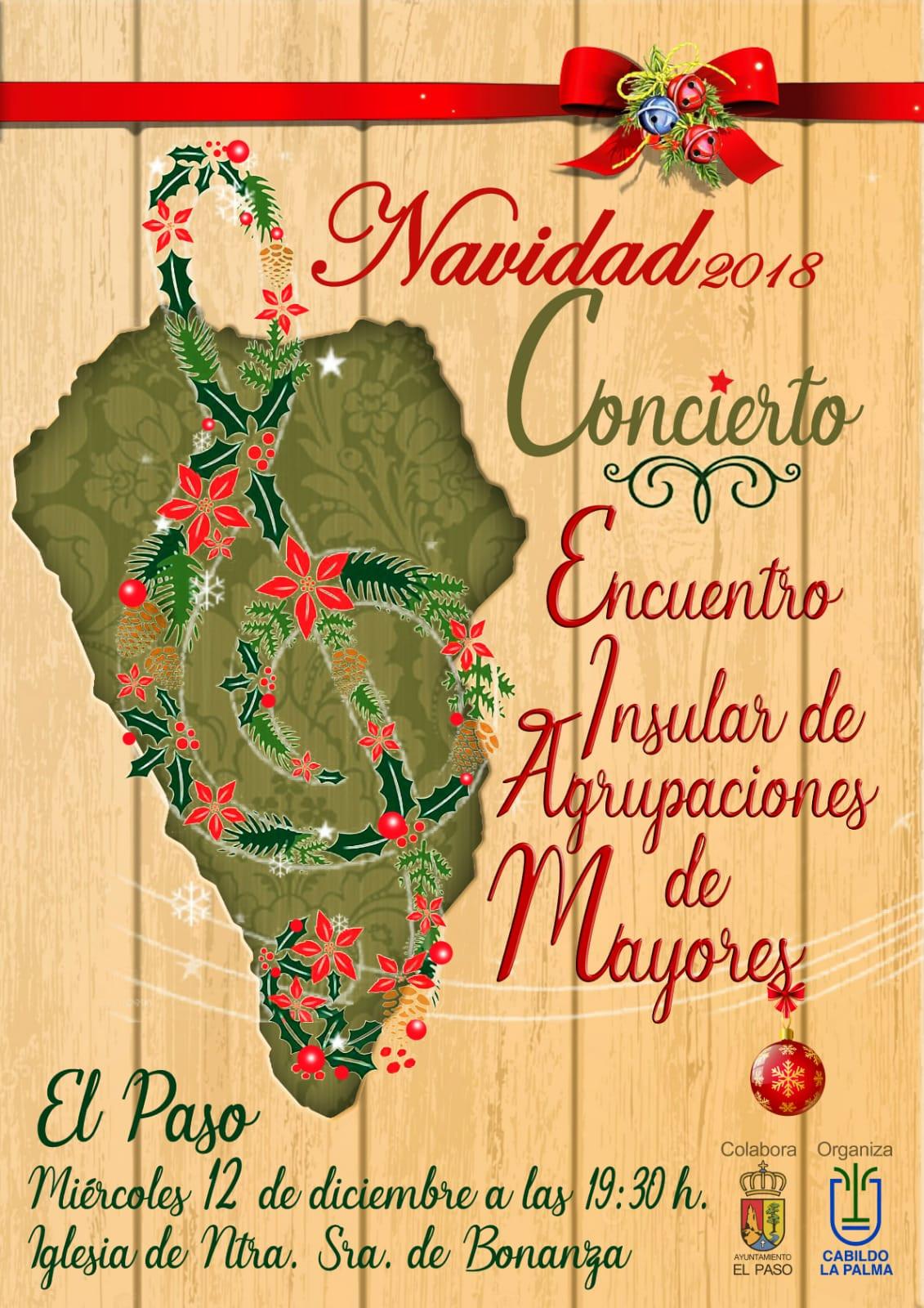 Cartel Concierto Navidad Asociaciones Mayores