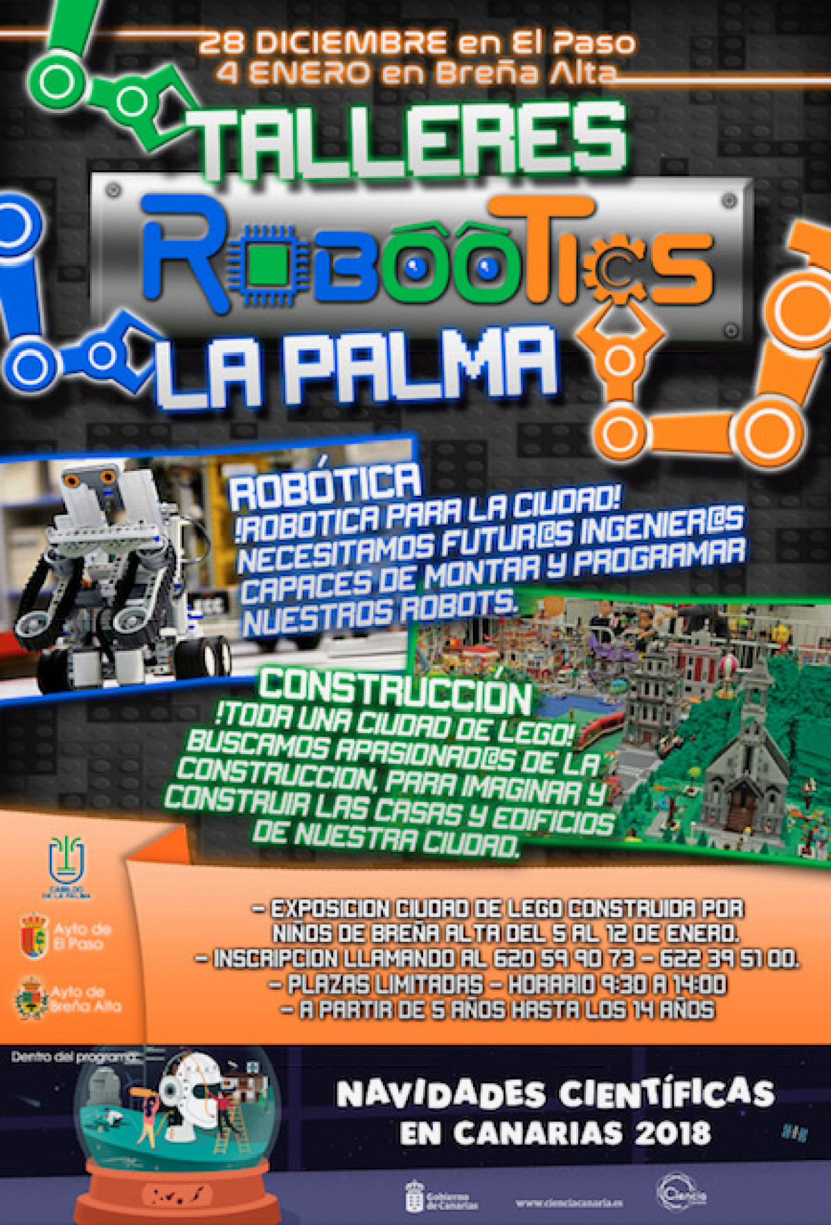 Cartel Ciudad LEGO El Paso y Breu00f1a Alta