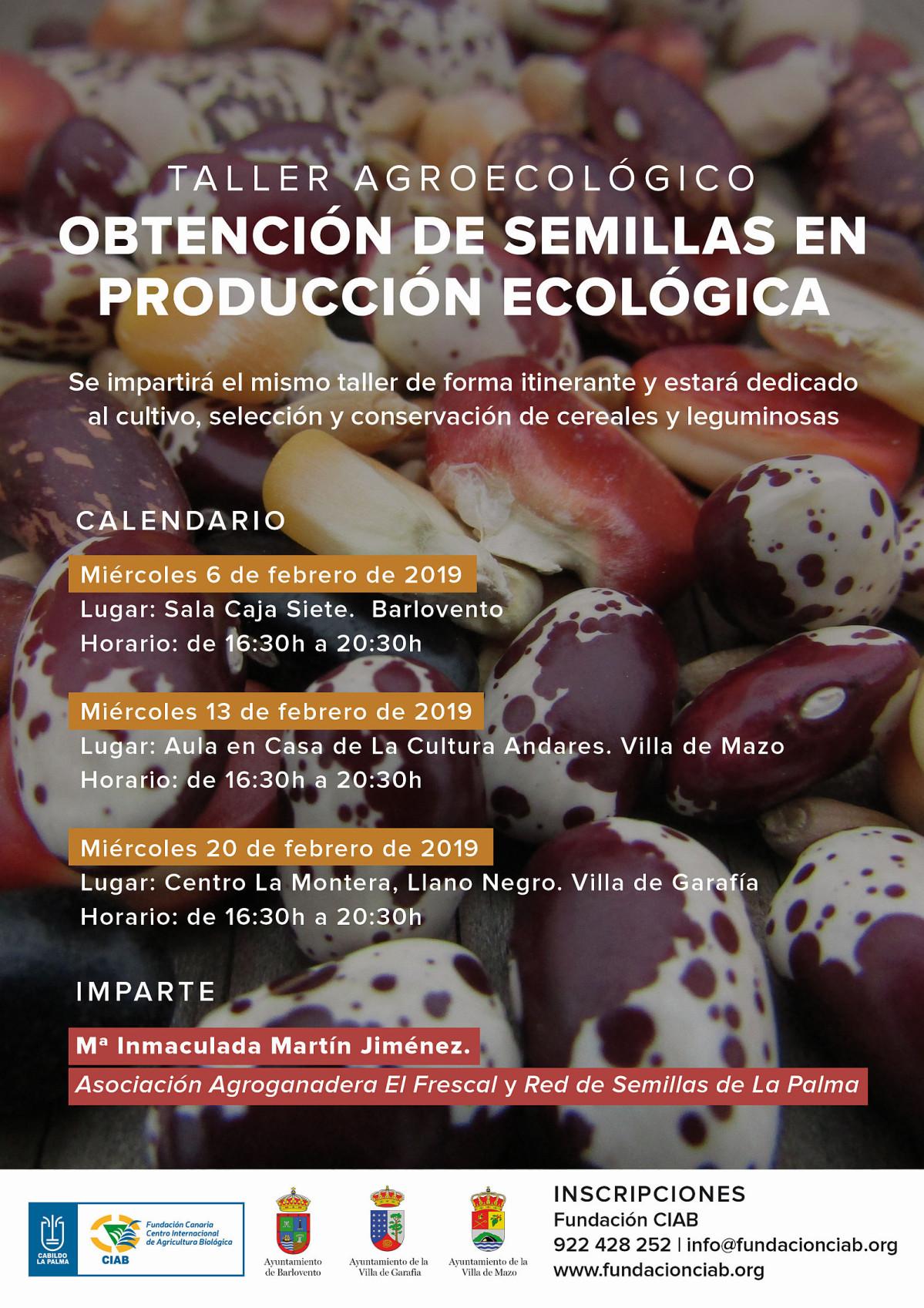 Cartel Ciclo Talleres obtenciu00f3n semillas ecolu00f3gicas 2019