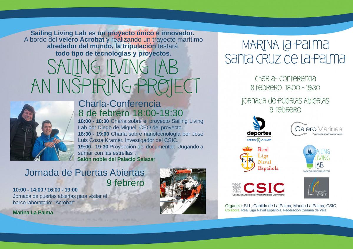 Sailing Living Lab   Cartel Marina La Palma 8 9 Febrero 2019