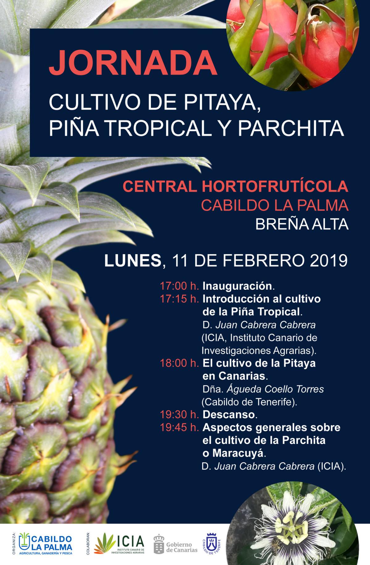 Cartel Cultivo Pitaya Piu00f1a Tropical y Parchita Maracuyu00e1