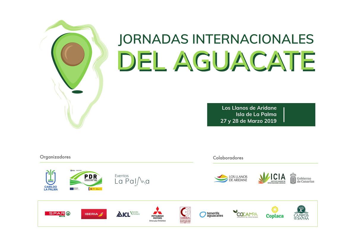 Cartel Jornadas Internacionales del Aguacate Isla de La Palma