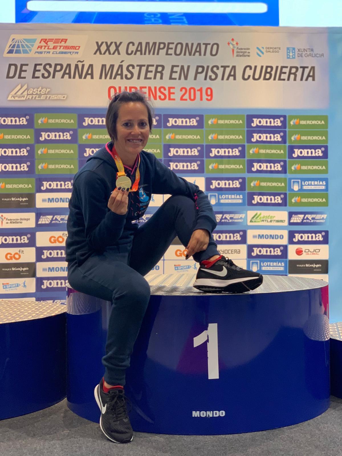 Marisa Pu00e9rez campeona espau00f1a en pc master f35 tres mil Ourense