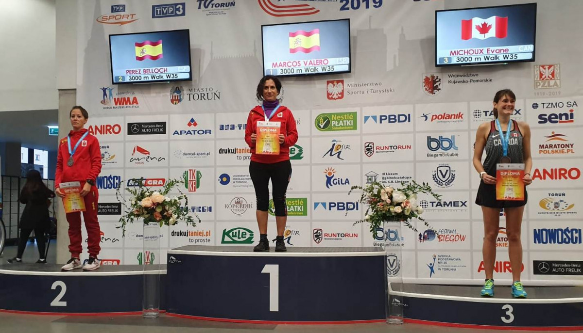 Marisa pu00e9rez subcampeona mundo mu00e1ster 3 kms marcha polonia