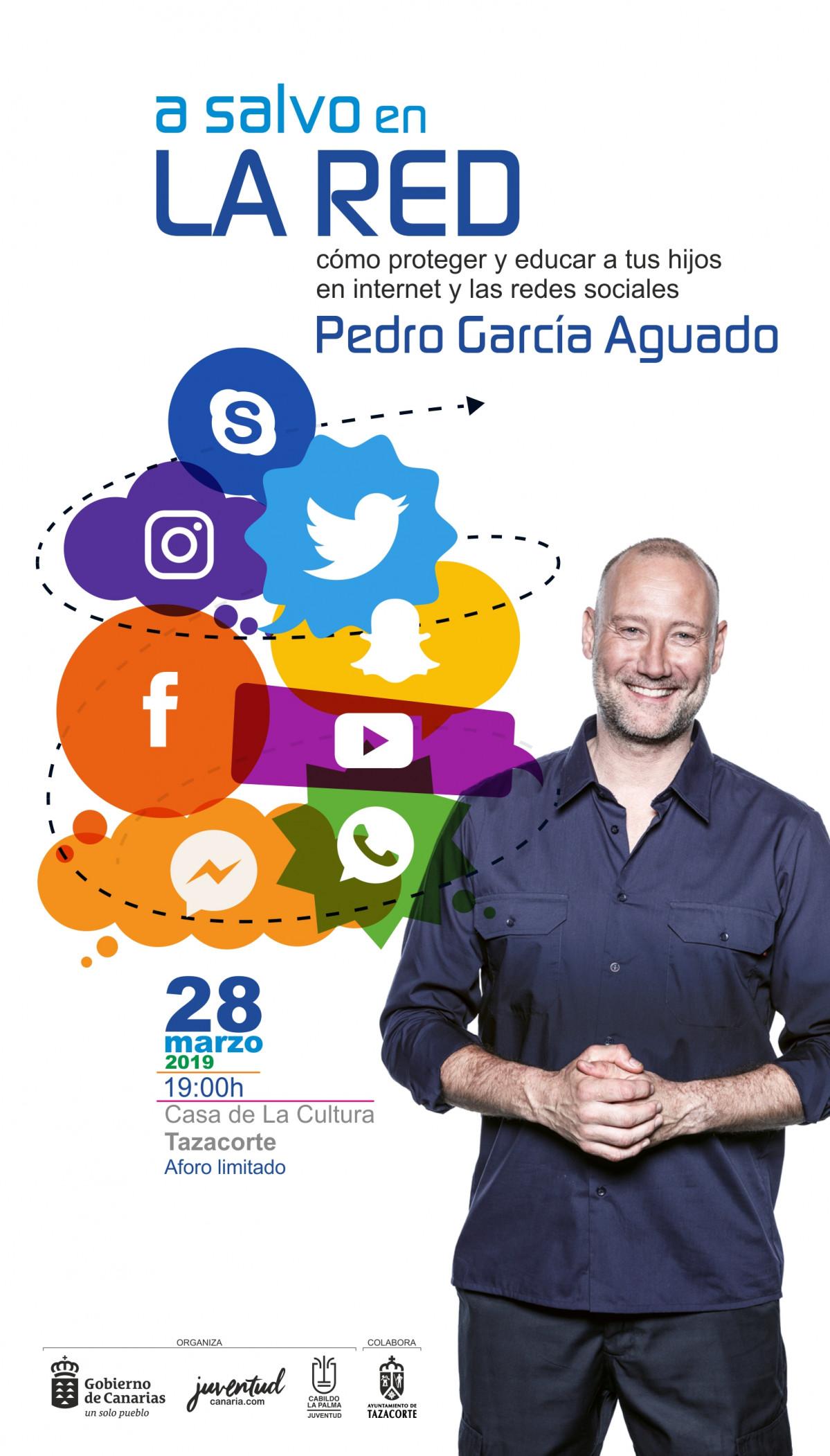 Cartel A salvo en la red Pedro Garcu00eda Aguado
