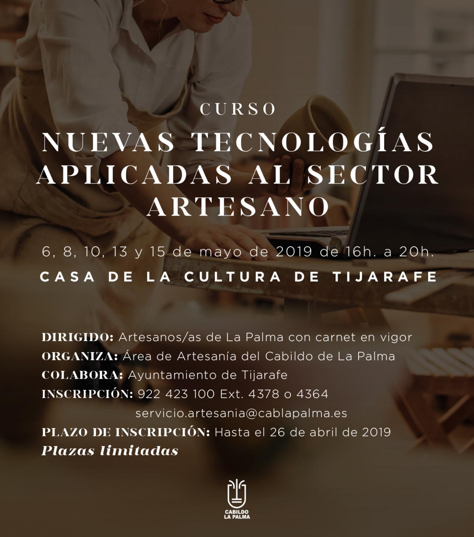 Cartel Curso Artesanu00eda Nuevas Tecnologu00edas